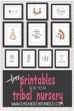 "Free Tribal Nursery Art Printables from Chickadee Art and Company <a href=""http://www.chickadeeartandco.com/free-printables/"" rel=""nofollow"" target=""_blank"">www.chickadeearta...</a>"