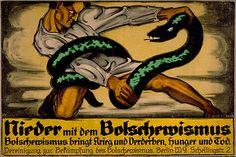 Nieder mit dem Bolschewismus, Art Poster by Oskar Kokoschka 1919 #affiche #poster