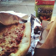 Pizza and snapple. My dinner almost everyday through this spring semester.