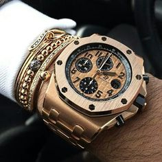 The Gold Standard - AP Royal Oak Offshore Chronograph Watch Men's Watches, Fine Watches, Cool Watches, Watches Online, Amazing Watches, Beautiful Watches, Stylish Watches, Luxury Watches For Men, Patek Philippe