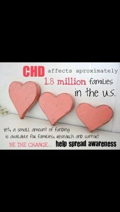 CHD Awareness, make these into posters to hang around the room, or at each table.