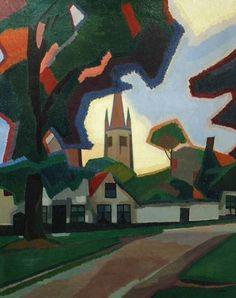 Auguste Herbin (French, 1882-1960) Beguinage at Bruges