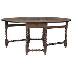 Large 18th Century English Oak Oval Gateleg Dining Table | From a unique collection of antique and modern dining room tables at https://www.1stdibs.com/furniture/tables/dining-room-tables/