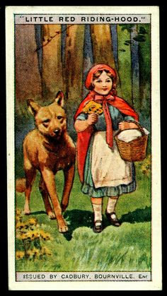 Cadbury Tradecard - Little Red Riding Hood by issued c.1924,shared by cigcardpix, via Flickr