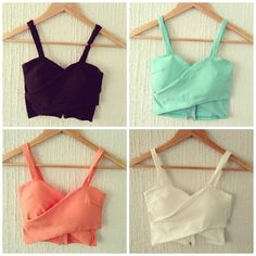 Cropped Tops, Blouse Designs, String Bikinis, Camisole Top, Cute Outfits, Tank Tops, My Style, Swimwear, T Shirt