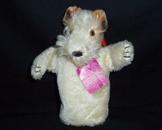 Steiff Co Foxy Hand Puppet wire hair fox terrier toy vintage