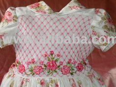 Bordado smock vestidos punto-Calzado de bebé-Identificación del ...