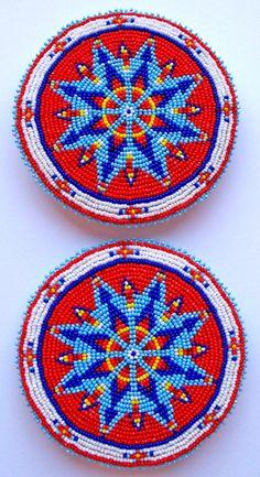 Native American Beadwork Designs KQ Designs Native American Beadwork Powwow Regalia and Beaded Beaded Flowers Patterns, Beading Patterns Free, Bead Loom Patterns, Bracelet Patterns, Indian Beadwork, Native Beadwork, Native American Beadwork, Powwow Regalia, Beadwork Designs