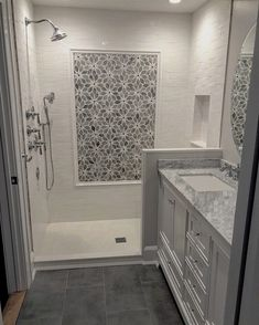 29 Popular Bathroom Shower Tile Design Ideas And Makeover. If you are looking for Bathroom Shower Tile Design Ideas And Makeover, You come to the right place. Here are the Bathroom Shower Tile Design. Bathroom Floor Tiles, Bathroom Renos, Bathroom Renovations, Bathroom Fixtures, Remodel Bathroom, Bathroom Colors, Master Shower Tile, Tile Floor, Bathtub Tile