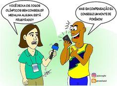 Consolações olímpicas. #charge #cartoon #desenho #draw #ilustração #illustration #rio2016 #rio #olimpiadas #jogosolimpicos #Olimpiadas2016 #atletas #esporte #Pokémon #pokemongo #Brasil #olympics #olympicgames #sport #instadraw #instaart #humor