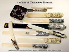 Elegant Victorian era desktop items  Photo credit: Antiques & Uncommon Treasure