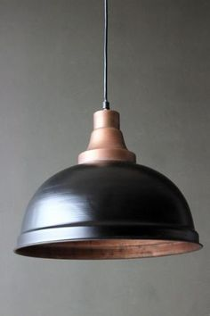 Mountview Copper and Black Ceiling Light