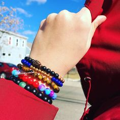 Windy out today in Boston www.newreignco.com http://ift.tt/2ljDkKI  #newreignco #sale #beadedbracelets #bracelets #yoga #yogabracelet #getyourstoday #armcandy #beads #style #fashion #mensfashion #womensfashion #stretchbracelets #accessories #womensaccessories #boston #jewelry #beadedjewelry #menwithstyle #handmade #madeintheusa #stackedbracelets #stacksonstacks #etsy #windy