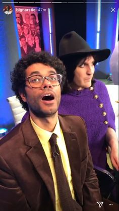 Richard and Noel are a team again on this year's Big Fat Quiz! Uk Comedians, Matt Berry, Julian Barratt, Richard Ayoade, The Mighty Boosh, It Crowd, Noel Fielding, Bbc Tv, British Comedy