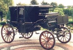 The landau was the luxury vehicle of its time. It was drawn by four horses, seated six, and had a bench for a driver. Designed for longer trips,  having two hoods that could be raised, and windows that would fit into slots in the hood, but slide down out of sight into the doors when not needed.