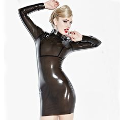 >> Click to Buy << Summer dress 2016 Sexy Latex Bodycon Dress For Women Slim Fetish Rubber Vestidos Plus Size Hot Sale Customize Service #Affiliate
