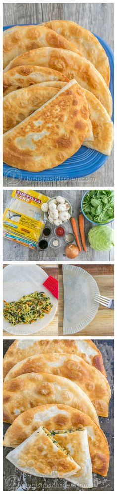 These chebureki (turnovers) have a juicy and delicious cabbage and mushroom filling. So good! They taste like egg rolls. | natashaskitchen.com