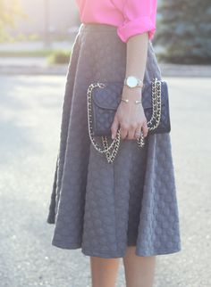 Midi skirt - love the length and cut. might just have to make one!