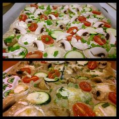 Evening Snack - Pizzabread with vegetables