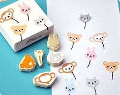 kawaii fox stamp - Google Search