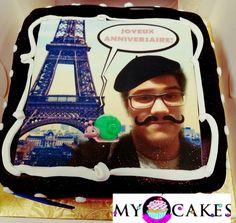 French themed birthday cake