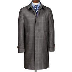 93131f258ce Charles Tyrwhitt Grey Slim Fit Check Rain Coat  RainCoatForLadies Men  Formal