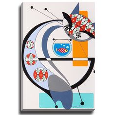 Bashian Home Cat G by Dominic Bourbeau Graphic Art on Wrapped Canvas