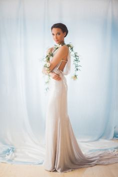 Ethereal sequined gown: http://www.stylemepretty.com/canada-weddings/ontario/niagara-on-the-lake-ontario/2016/05/02/all-the-inspiration-you-need-for-your-jasmine-filled-wedding/ | Photography: Gemini Photography - http://geminiphotographyontario.com/