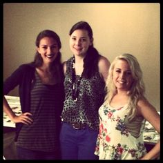 #BehindtheScenes: #Intern diaries Oct/Nov 2012 #Beauty Shoot: Rachael, Kate, and Brittany strike a pose!