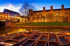 Cambridge- Punts in the River Cam