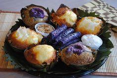 Assorted kakanin — native desserts, sweets, delicacies