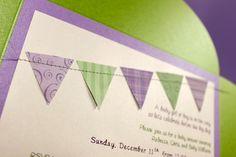 Set of 10 - Banner Invitations - Petal Fold. $50,00, via Etsy.
