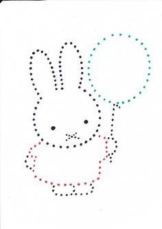 Nijntje Felt Patterns, Beading Patterns, Embroidery Patterns, Hand Embroidery, Kids Art Class, Art For Kids, Art Perle, Shapes For Kids, Arts And Crafts