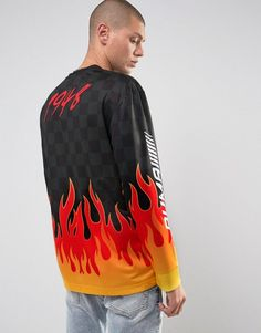 Puma Long Sleeve Top With Flame Print Exclusive To ASOS 57659701 - Bla