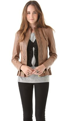 This might be the sweetest little leather jacket I've ever seen.