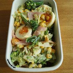 『キャベツとゆで卵の具だくさんサラダ』レシピ♪簡単作り置き!