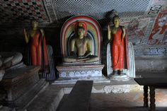 meditating Buddha, second cave, Golden Temple, Dambulla, Sri Lanka #SriLanka #Dambulla #Temple #Buddhism Sri Lanka, Golden Temple, Buddha Meditation, Buddha Art, Ancient Civilizations, World Heritage Sites, Ancient History, Buddhism, The Rock