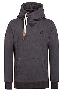 naketano Pommes im Weltall VI - Hooded Sweatshirt for Men - Grey