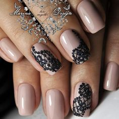 and Beautiful Nail Art Designs Lace Nail Design, Lace Nail Art, Marble Nail Designs, Lace Nails, Nail Art Designs, Simple Acrylic Nails, Simple Nails, Long Square Nails, Cute Nail Colors