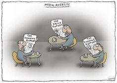 Michael Leunig: The World according to Rupert. The brain washing of Australian's through Media Diversity.
