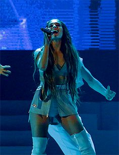 ariana grande performs at the dangerous woman tour in rio de janeiro, june 29th
