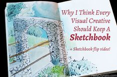 Why i think every visual creative should keep a sketchbook (+ video sketchbook flip) Art Drawings Sketches, Beautiful Love, Art Sketchbook, Abstract Landscape, Art Techniques, Art Tutorials, Kids Playing, Art Projects, Fine Art