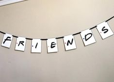 Friends TV Show Themed Party Banner. The banner measures approx 5 feet long. (Depending on how many letters you need) Yo Friend Birthday, 30th Birthday, Birthday Party Themes, Birthday Ideas, Serie Friends, Friends Tv Show, Grad Parties, Party Items, Shower Party
