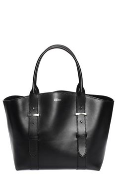 6ae58863cba0 Alexander McQueen  Small Legend  Leather Shopper available at  Nordstrom  Black Leather Tote Bag.