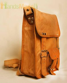 leather bag  camel leather  satchel bagmessenger bag by sufisarfi, $127.00