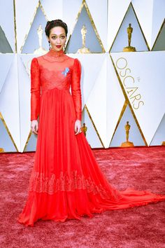 Ruth Negga in Valentino and Irene Neuwirth jewels attends the 89th Annual Academy Awards at Hollywood & Highland Center on February 26, 2017 in Hollywood, California.