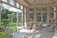 Folding Doors In Traditional Conservatories - Orangeries & Conservatories By Vale Lead Roof, Georgian Architecture, Farm Shop, Georgian Homes, Folding Doors, Back Porches, Conservatory, Sunroom, Lady Ottoline