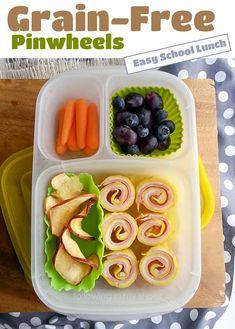 grain-free pinwheels for an easy school lunch │ packed in @EasyLunchboxes