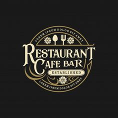Find Food Drink Logo Design Vintage Style stock images in HD and millions of other royalty-free stock photos, illustrations and vectors in the Shutterstock collection. Food Logo Design, Vintage Logo Design, Logo Food, Logo Design Services, Graphic Design, Logo Restaurant, Bbq Logo, Logo Sign, Festival Logo