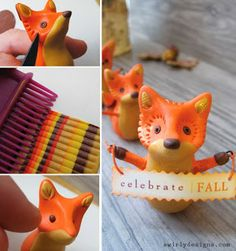 Swirly Designs Blog: http://swirlydesignsblog.blogspot.com/search/label/holiday%20how-to Autumn Fox Figurine How-to